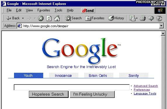 funny google searches. Google Despair – The search